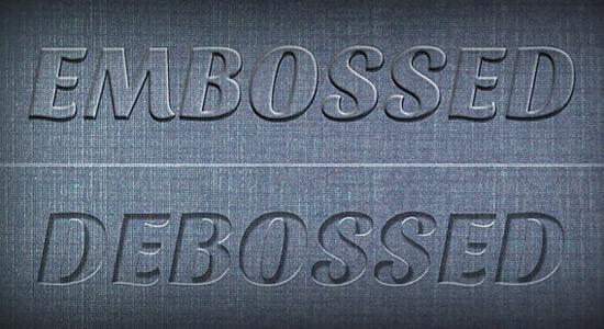 embossed-debossed