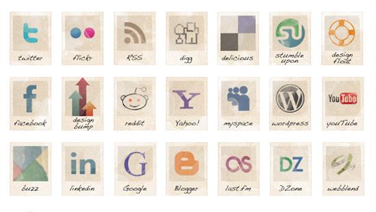 Free-social-vintage-icons