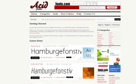 acid fonts