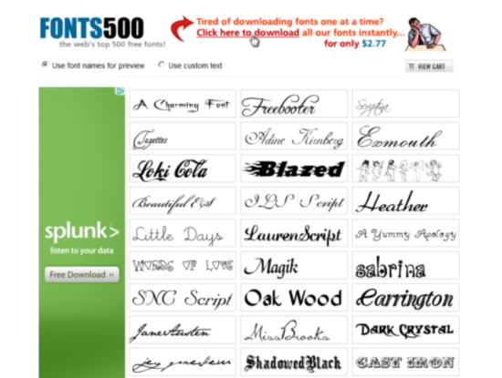 fonts500